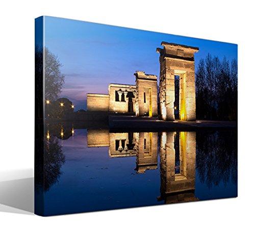 Cuadro Canvas Templo de debod en Madrid - 75cm x 55cm - Fabricado en España