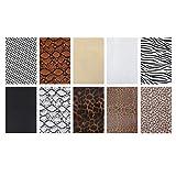 EXCEART 10 Stück Kunstleder Stoff Leoparden Stoff