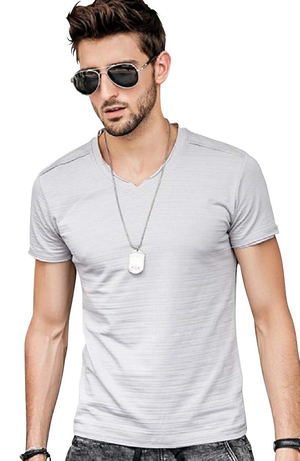 ささいな集団的タック[ライズオンフリーク] メンズ 半袖 tシャツ トップス カットソー シャツ カジュアル 夏服 GT-47