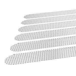 H HOMEWINS 24PCS Tiras de baño con rascador Pegatinas antideslizantes Pegatinas de ducha Seguridad Transparente Autoadhesivo para escalera de piscina 38CM (Tira)