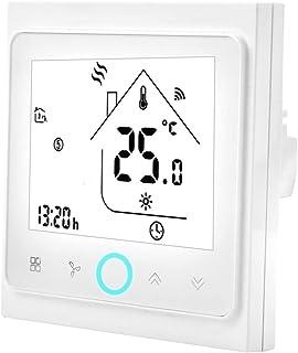 Termostato Inteligente, 2 o 4 Tubería WiFi Smart Central Aire Acondicionado Termostato Controlador de Temperatura Pantalla...