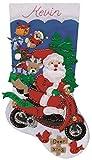Design Works 'Scooter Santa Weihnachtsstrumpf farbig Filz Blatt
