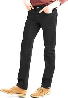 GAP Men's Black Selvedge Jeans in Slim Fit with GapFlex Stretch