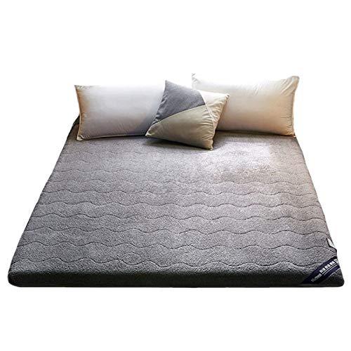 YAHAO Mattress Futon,Tatami Floor Mat, Foldable Futon Mattress Soft,Thick Japanese Student Dormitory Mattress,Thickening Mattress,Gray-180 * 200cm