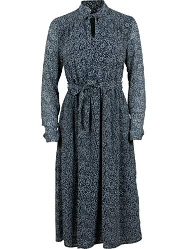 MUSTANG Damen Kleid Fanny V Chiffon 34 36 38 40 46 Mehrfarbig Geblümt Maxikleid, Größe:38, Farbe:FlowerAOP1 (11594)