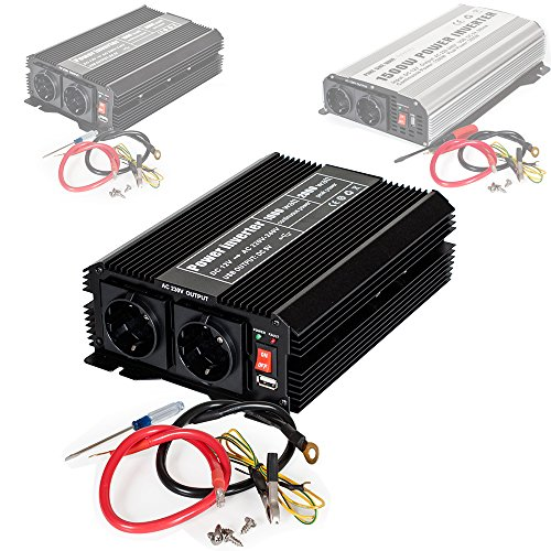 tectake Convertisseur de Tension Sinus modifie Power Inverter 12V en 220V - diverses modles au Choix - (Type 1 (400976))