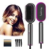 Hair Straightener Brush,Homipooty Heat Straightening Brush,2 in 1 Hair...