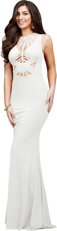 Jovani Jersey Mesh Inset Formal Dress