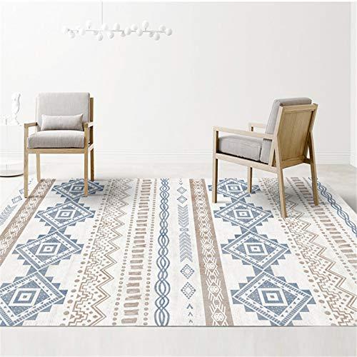 Décoration De La Maison De Style Nordique À Carreaux De Style Ethnique Rectangulaire Grand Tapis De Salon 160x230cm