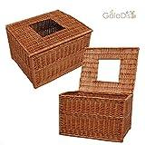 GalaDis 1-20 Wurfbox/Wurfkiste für Katzen aus Weide (60 x 50 x 40 cm), Eingang im Deckel