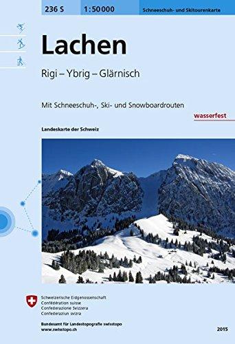 236S Lachen Schneeschuh- und Skitourenkarte: Rigi - Ybrig - Glärnisch (Skitourenkarten 1:50 000)