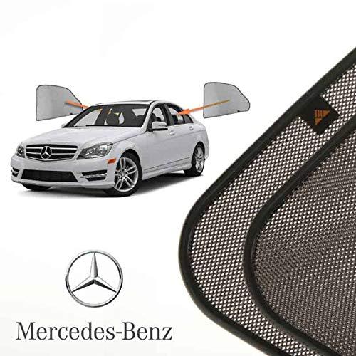 Cortinillas Parasoles Coche Laterales Traseras a Medida para Mercedes-Benz C-klasse (3) (W204)...