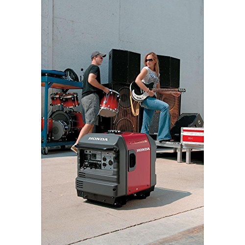 couple of roadies with a Honda generator