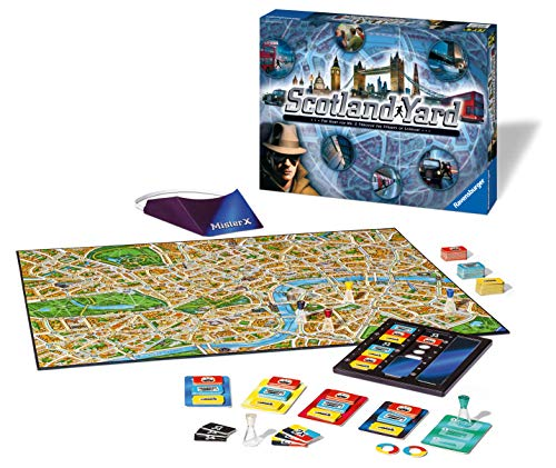Ravensburger 26646 Scotland Yard Family Strategy Board Game for Kids & Adults Age 8 & Up-The Hunt for Mr X