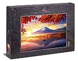 Ulmer Puzzleschmiede - Puzzle 'Fujijama': Puzzle de 1000 piezas - El monte Fujijama en el reflejo del lago Kawaguchiko