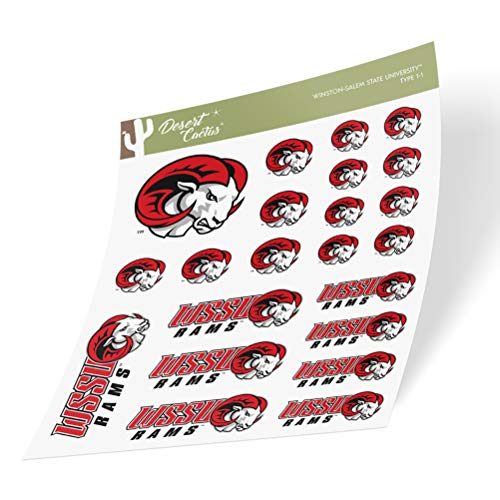 Winston-Salem State University WSSU Rams Sticker Vinyl Decal Laptop Water Bottle Car Scrapbook (Type 1 Sheet)