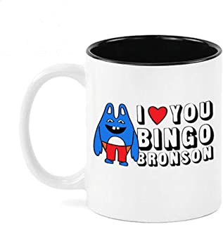 Bingo Bronson- Broad City Inspired Funny Coffee Mug- 11oz Ceramic Coffee Mug Tea Cup White