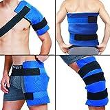 Paquete y envoltura de hielo en gel flexible grande terapia de frío - calor para cadera, hombro, codo, espalda, rodilla - Gran alivio para esguinces, dolor muscular, contusiones, lesiones - 11'x 14'