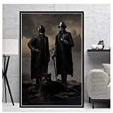 zxianc Poster Prints Daft Punk The Weeknd Starboy Hip Hop Music Album Star Painting Canvas Wall Art Pictures Home Decor Quadro -50x70cmx1 Frameless