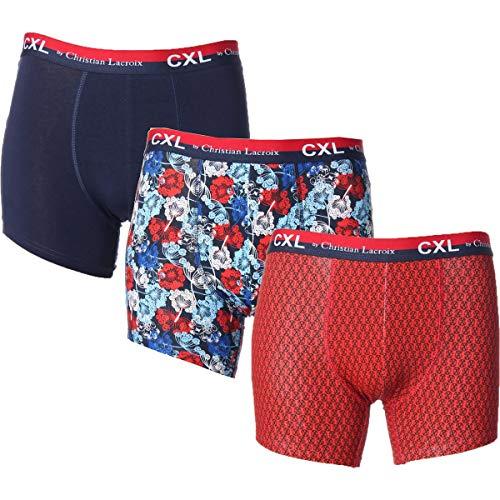 CXL by Christian Lacroix Mens Tagless Underwear Boxer Briefs Navy S