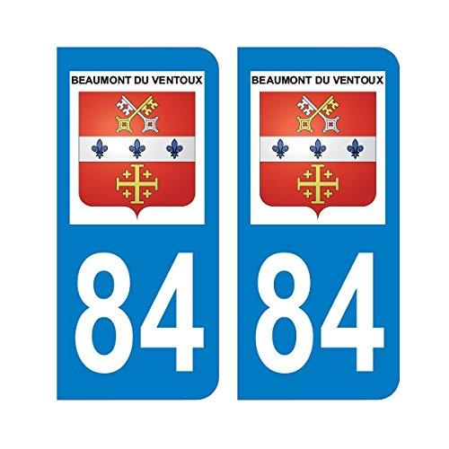 Zone-Stickers Autocollants Plaque Immatriculation Commune Beaumont du Ventoux 84 - Vaucluse - Arrondis