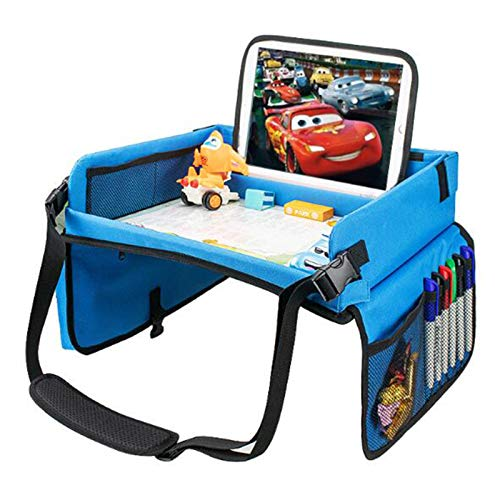 JZTOL Tabla de dibujo para niños, bandeja de coche para niños, asiento de seguridad para niños de 3 a 12 años
