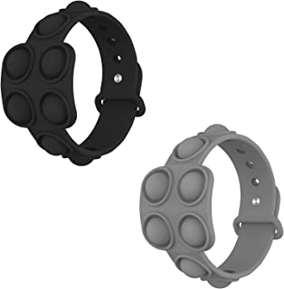DONYA 2 Pack Bracelet Push Pop Fidget Toy,Adjustable Bracelet Bubble Toy,Push Pop Bubble Sensory Fidget Bracelet Toy,Autis...