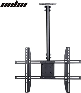 "UNHO TV Ceiling Mount Bracket Tilt and Swivel Wall Bracket Height Adjustable for 23-65"" LCD LED OLED TVs Plasma Monitors M..."