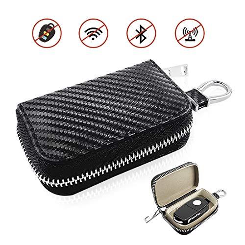 Actualizado Coche Llave Caso, Faraday Jaula Coche Llave Protector - RFID Señal Bloqueo Anti-Robo Bolsa, Anti-piratería Caso Bloqueador