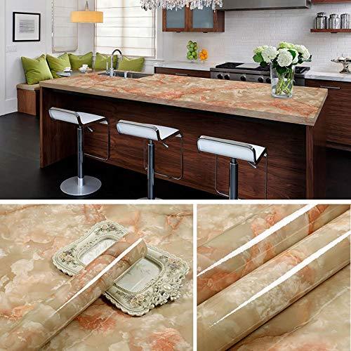 lsaiyy Cocina del hogar Pegatinas de Aceite gabinetes de Cocina a Prueba de Agua baño Wallpaper- 60CMX5M