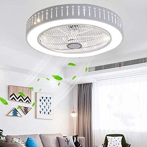 Ljdgr Ventiladores para el Techo con lámpara, Creativa Moderna Regulable Nursery Dormitorio Oficina Restaurante Sala Iluminación Decorativa (Color : A-03-stepless Dimming)