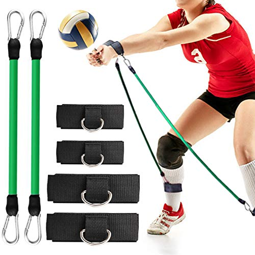 TOBWOLF Volleyball Training Pass Rite Aid Resistance Band, Elastic Pull Rope Exercise Resistance Bands, Volleyball Jump Bounce Drills Rope Agility Training Prevent Excessive Upward Arm Movement