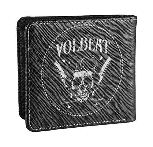 Volbeat Brieftasche Razorblade Skull Band Logo Nue offiziell Schwarz Bifold