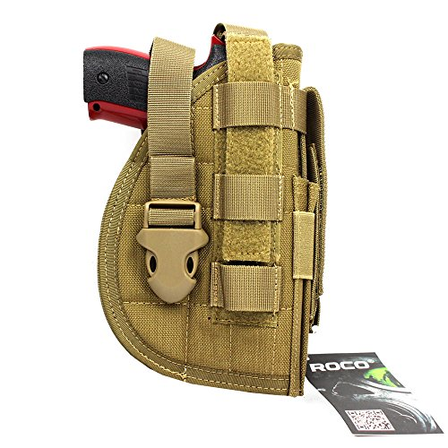 LytHarvest Pistol Holster with Mag Pouch, Tactical Molle Belt Holster for Right Handed Shooters Fits Glock 1911 45 92 96 (TAN)