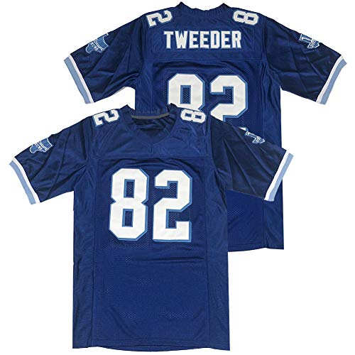 Men's 82 Charlie Tweeder Varsity Blues Movie West Canaan Coyotes Football Jersey Stitched Blue Size XL