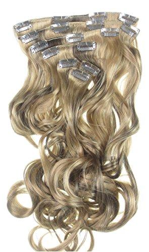 Toutes les couleurs disponibles, Extension De Cheveux Bouclée Look Réaliste Mélange De Blond Doré Et Marron 61 Cms De Longueur