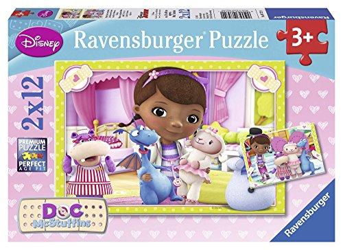 Ravensburger - 07572 - Puzzle Enfant Classique - Clinique des Jouets Docteur La Peluche - 2 X 12 Pièces