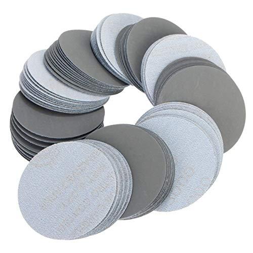 SDCVRE Schleifpapier 20 stücke 2 Zoll 50mm Runde Schleifpapierscheibe Sand Sheets Grit 3000-7000 Klettschleifscheibe für Schleifkörner, Grit 7000