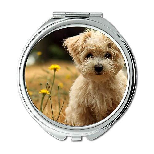Spiegel, Kleiner Spiegel, Bunte Hunde, Taschenspiegel, 1 X 2X Vergrößerung