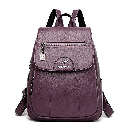Modische Schultasche robuste Laptoptasche 5 Farbe Frauen Soft Leather Rucksäcke Vintage Weibliche Umhängetaschen Casual