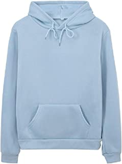 Aooword Womens Loose Solid Color Casual Hoodie Basic Sweatshirts Top Blouse