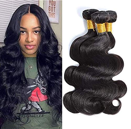 Brazilian Hair Body Wave 3 Bundles Hair Weave Human Hair Bundles 8a Natural Color Hair For Women Weave Hair Double Weft Soft and Thick Weave Bundles 12 14 16 Inch …