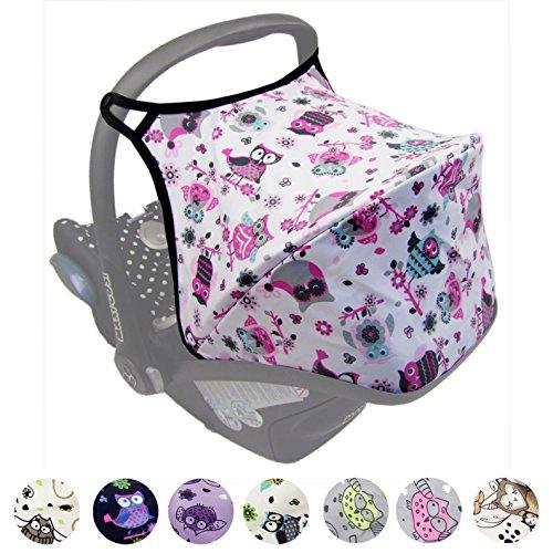 BAMBINIWELT zonnescherm UV50+ voor Maxi-Cosi Cabriofix, zonnedak babyschaal, autostoel uil Uil $1