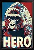 EM-JH041-Pop Art Hero Funny Gorilla Hochformat 14x20 inches