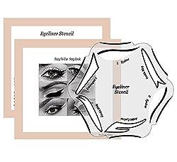 Ofertas Tienda de maquillaje: estarcido Eyeliner–el must-have para un eye-liner perfectamente perderse. Esto nunca ha sido tan fácil: sólo tiene que aplicar la plantilla y de dibujar la párpado. Debido a las diferentes diseños, hay para todos los gustos. Esta herramienta de maq...