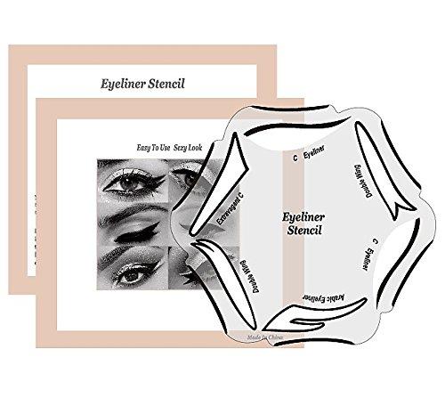 Eyeliner Schablone für den perfekten Lidstrich by BLISSANY, Cat Eyeliner, Lidstrich Schablone, 12 Styles, Double Wing, Extravagant Cat, Arabic Eyeliner