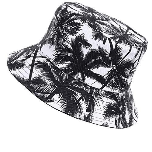 Jazmiu - Sombrero unisex, tipo pescador, de moda, estampado con dibujos de frutas, ideal para actividades al aire libre, reversible, se puede doblar para guardar Le Black Taille unique
