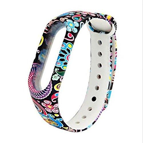 Ouneed, Cinturino per smartwatch Xiaomi Mi Band 2, camouflage multicolore in TPU , Ouneed-88668866, c