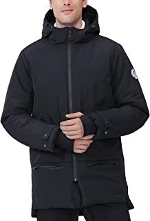 Men's Jackets Winter Parka Windproof Insulated Coats Black Outerwear Warm Casual Hooded Jacket Coats