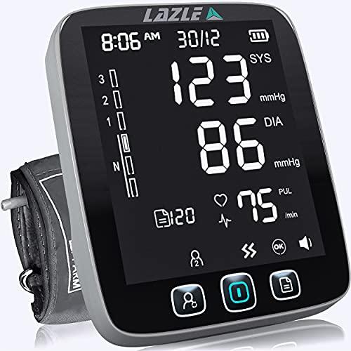 LAZLE Blood Pressure Monitor - Automatic Upper Arm Machine &...